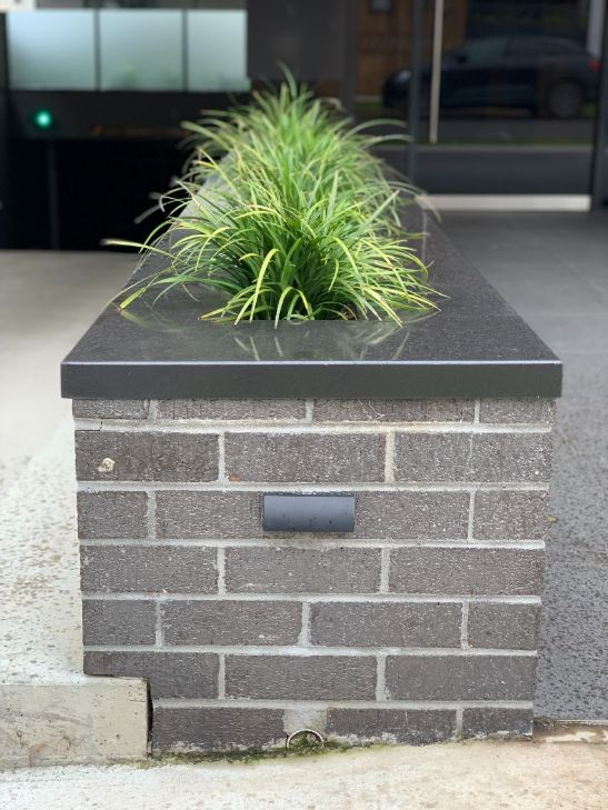 Planter Box by the best bricklayers Ballarat have feature brickwork has been laid
